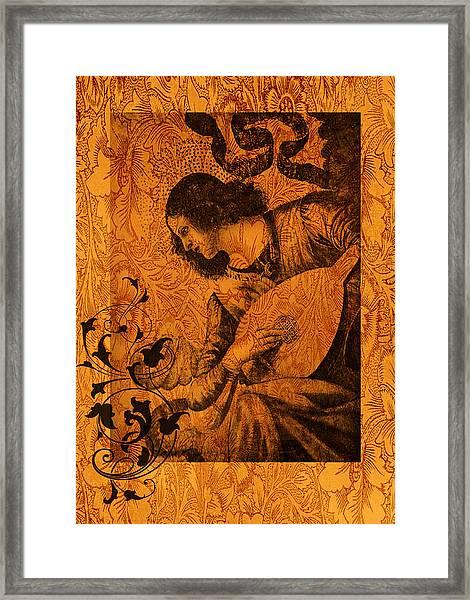 Musical Angel Framed Print