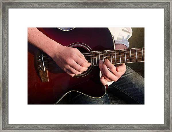 Musical Hands Framed Print