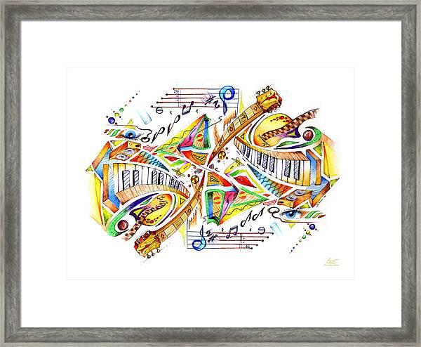 Musicality Framed Print