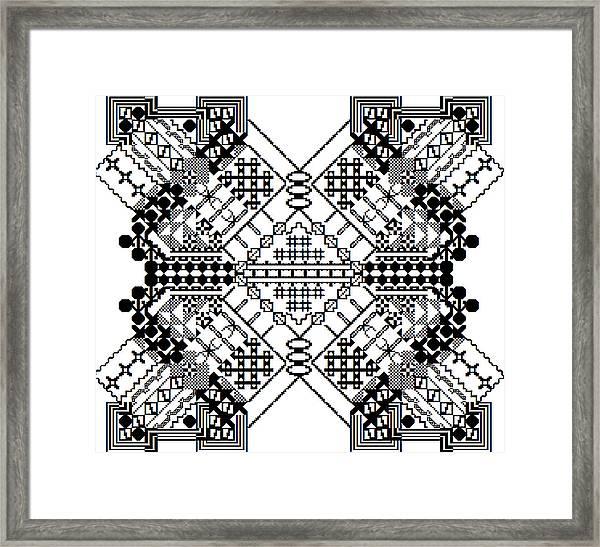Mutated Division Framed Print
