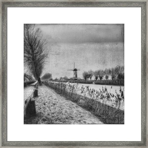 My Beloved Flat Country: Damme Framed Print