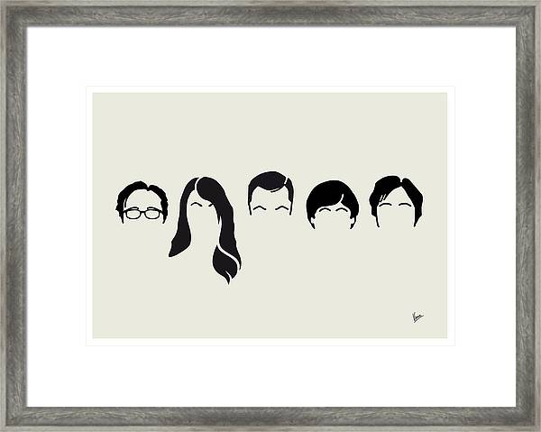 My-big-bang-hair-theory Framed Print