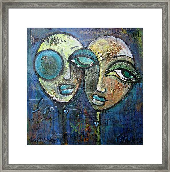 Framed Print featuring the painting My Biggest Fan by Laurie Maves ART