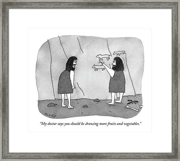 My Doctor Says You Should Be Drawing More Fruits Framed Print