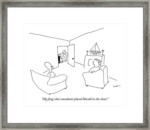 My Feng-shui Consultant Placed Harold Framed Print