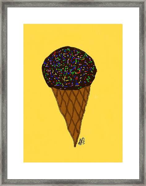 My First Ice Cream Cone Framed Print