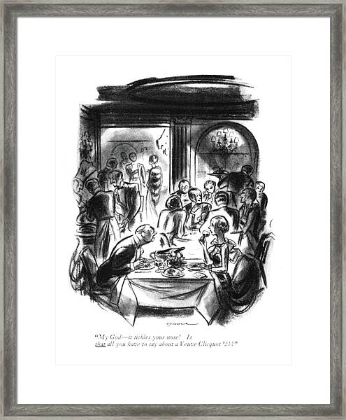 My God - It Tickles Your Nose! Is That All Framed Print