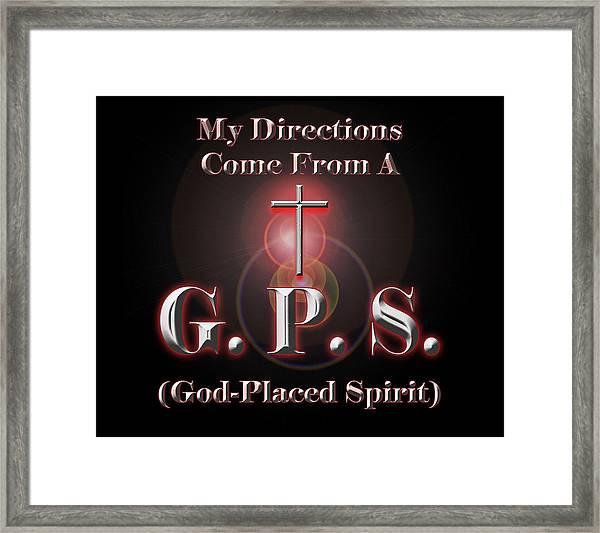 My Gps Framed Print