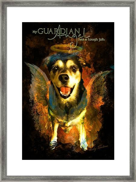 My Guardian Angel - Hollister Framed Print