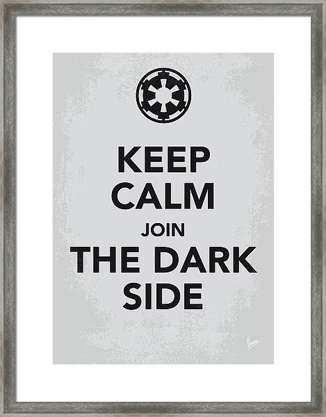 My Keep Calm Star Wars - Galactic Empire-poster Framed Print