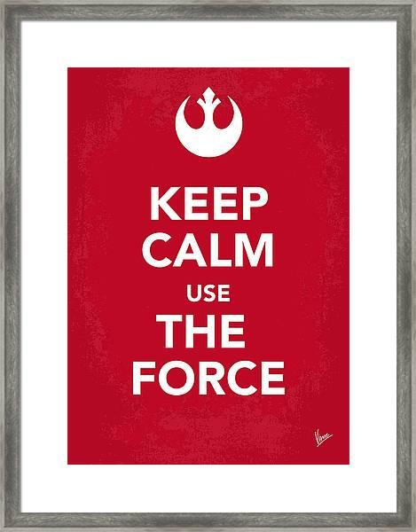 My Keep Calm Star Wars - Rebel Alliance-poster Framed Print