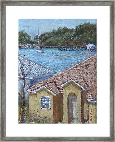 Marsh Harbour Martini Framed Print