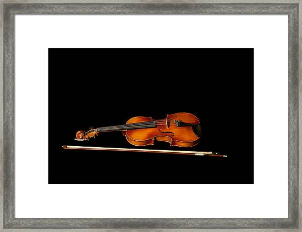 My Old Fiddle And Bow Framed Print