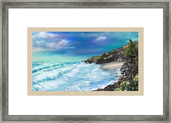 My Private Ocean Framed Print