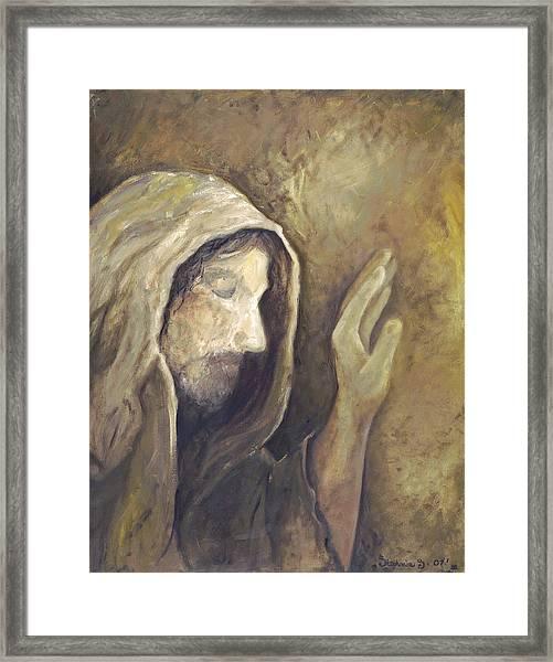 My Savior - My God Framed Print