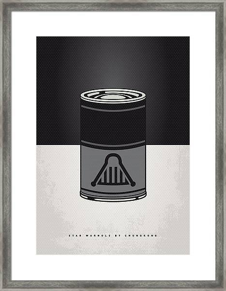My Star Warhols Darth Vader Minimal Can Poster Framed Print