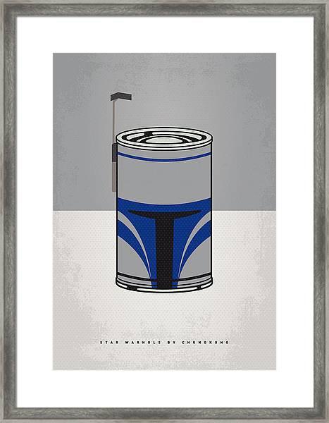 My Star Warhols Jango Fett Minimal Can Poster Framed Print