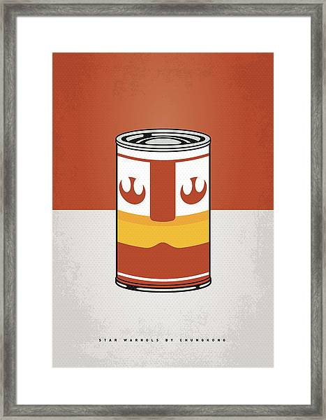 My Star Warhols Luke Skywalker Minimal Can Poster Framed Print