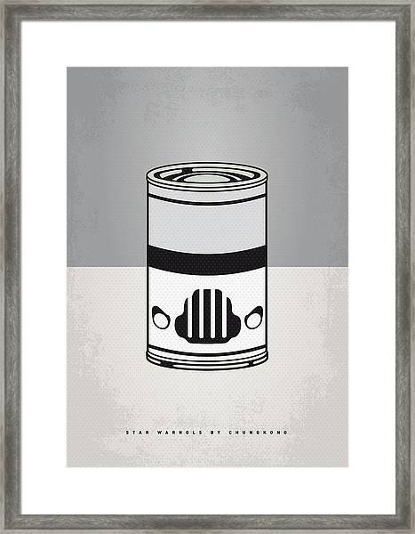 My Star Warhols Stormtrooper Minimal Can Poster Framed Print