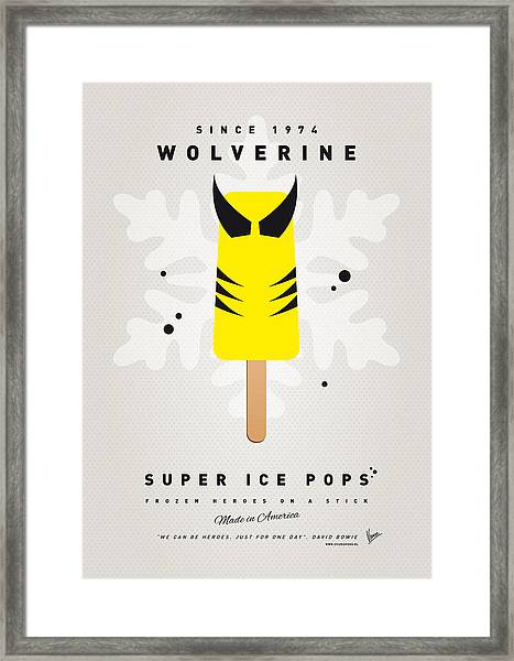 My Superhero Ice Pop - Wolverine Framed Print