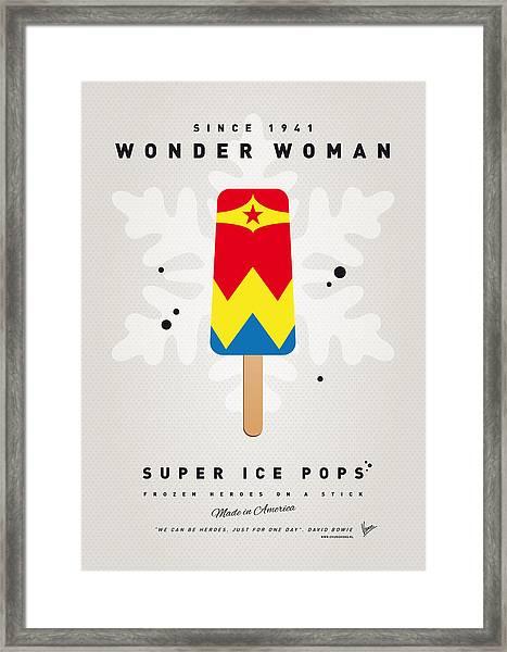 My Superhero Ice Pop - Wonder Woman Framed Print