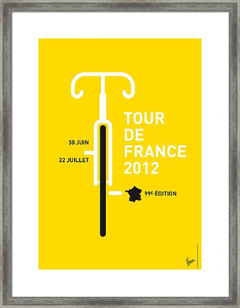 My Tour De France 2012 Minimal Poster Framed Print
