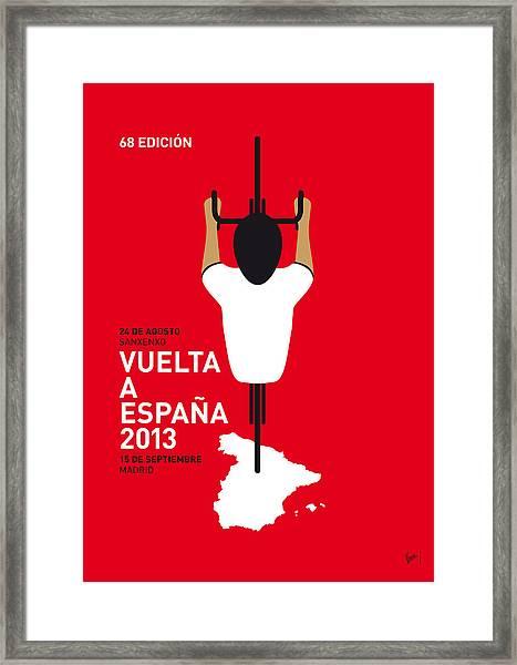 My Vuelta A Espana Minimal Poster - 2013 Framed Print
