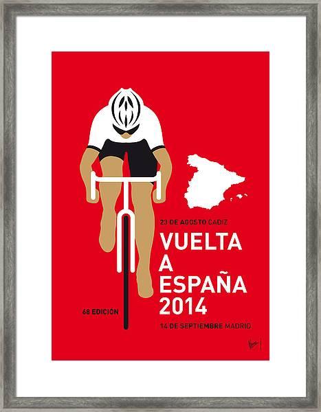 My Vuelta A Espana Minimal Poster 2014 Framed Print