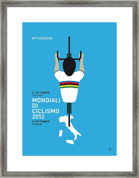 My World Championships Minimal Poster Framed Print