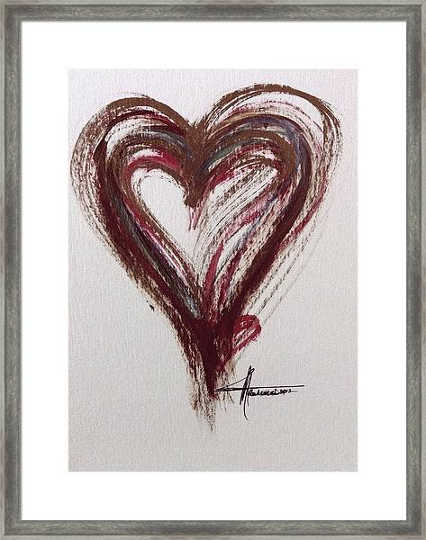 Myeloma Awareness Heart Framed Print