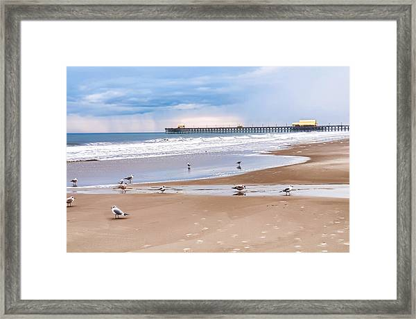 Myrtle Beach - Rainy Day Framed Print