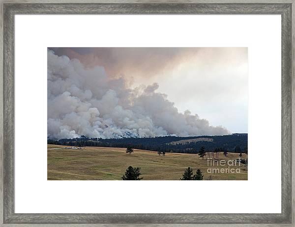 Myrtle Fire West Of Wind Cave National Park Framed Print