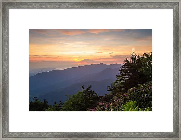 Myrtle Point - Mt Leconte Framed Print