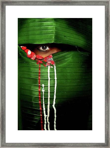 Mysterious Eye Framed Print by Adithya Zen