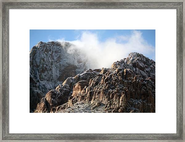 Mysterious Mountain Framed Print