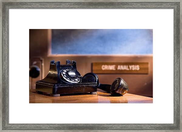Mystery Phone Call Framed Print