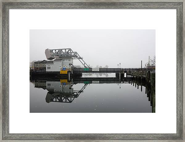 Mystic Ct Drawbridge Framed Print