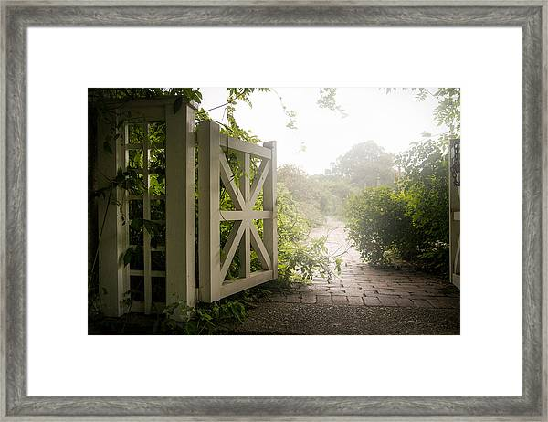 Mystic Garden - A Wonderful And Magical Place Framed Print