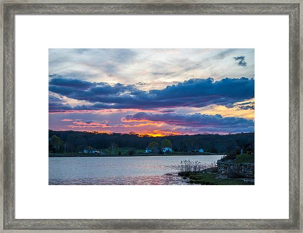Mystic River Sunset Framed Print
