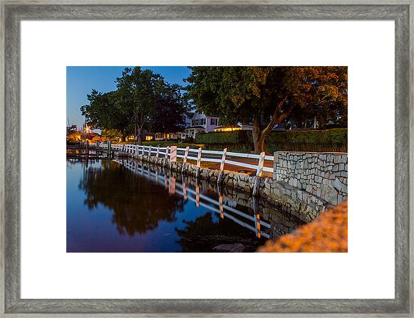 Mystic River Wall Reflection Framed Print
