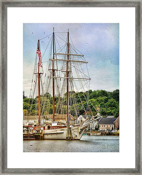 Mystic Seaport  Framed Print