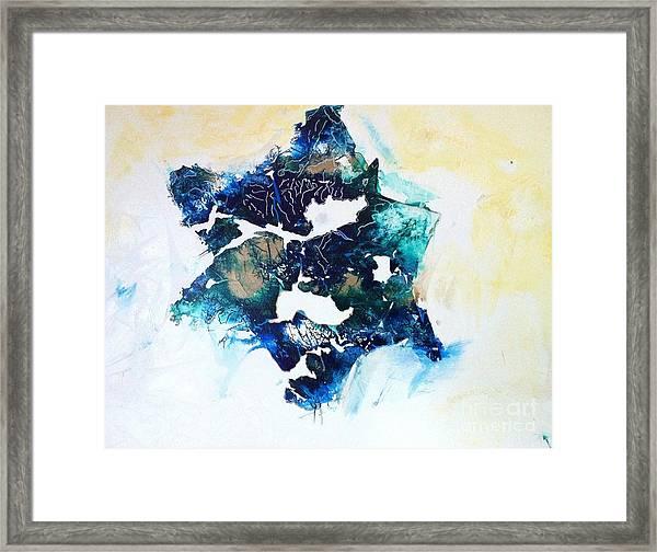 Mystical Star David Framed Print by Tonya Mower Zitman