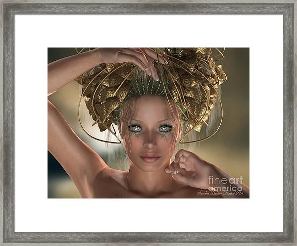 Mythos Framed Print by Sandra Bauser Digital Art