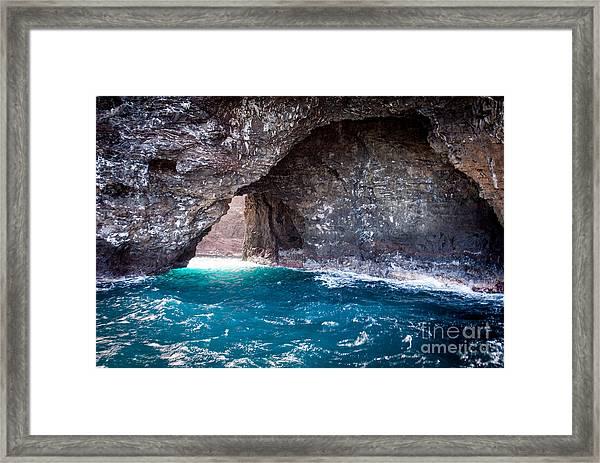 Na Pali Tunnel Framed Print