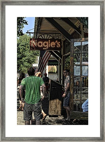 Nagle's Apothecary Cafe Framed Print