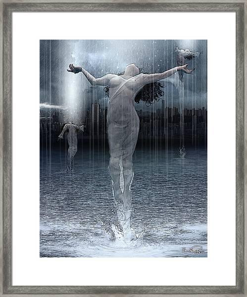 Naiads Water Nymph Framed Print