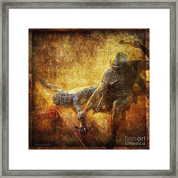 Nailed To The Cross Via Dolorosa 11 Framed Print