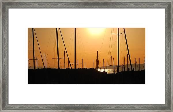Naked Masts Framed Print