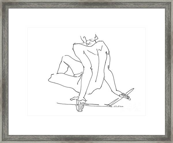 Naked-men-art-15 Framed Print