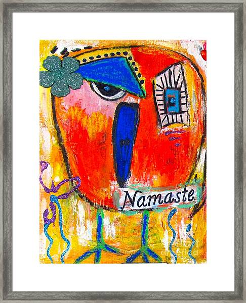 Namaste Birdie Acknowledges The Soul In You  Framed Print